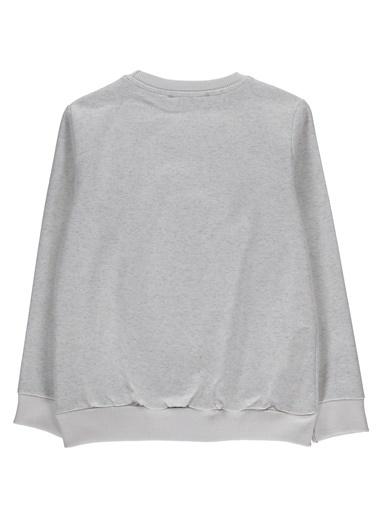 Morhipo Kids O Yaka Baskılı Sweatshirt Beyaz